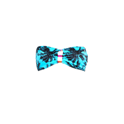 Strapless swimsuit Musso Miami turquoise blue (Top)