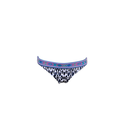 Blue printed swimsuit bottoms Santorin