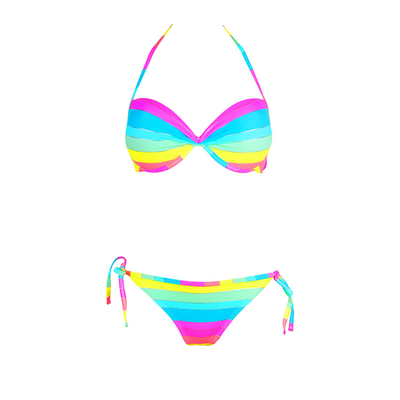 Balconnette two-piece bikini multicolored