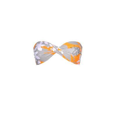 Orange bandeau twist swimsuit Kingston (Top)