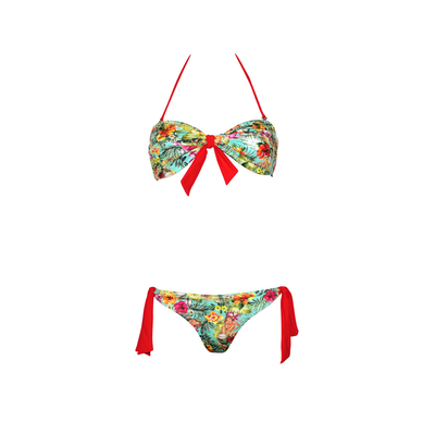 Mon Mini Twist Bikini Hawaii multi-coloured printed