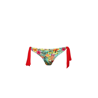 Ma Culotte Hawaï - Knotted multicoloured printed swimsuit (bottom)