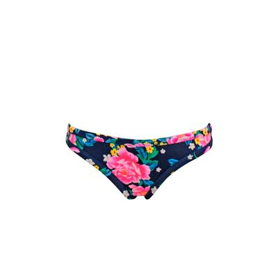 Mon Neoprene Bikini brief with flower prints in blue navy (bottom)