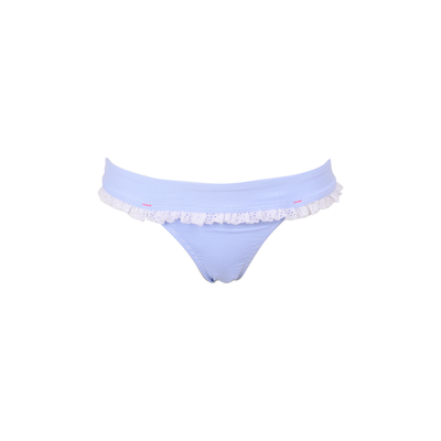 TEENS - Bikini brief Angelica blue striped with frills (bottom)