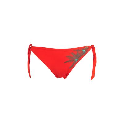 Bikini brief Cabana tie side orange with stitched palm (bottom)