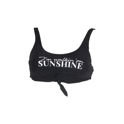 TEENS - Bra bikini Beachbabe black with white letters (top)