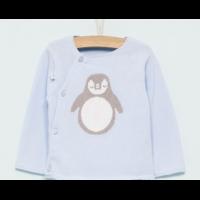 Brassière /Cardigan Bleu Pingouin