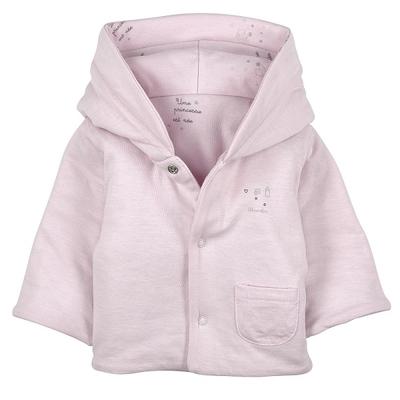 Manteau Mi-saison Moletonné Rose