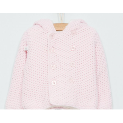 Manteau/Gilet Tricot Rose Pale