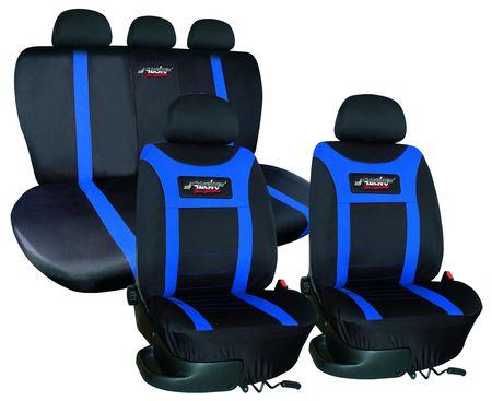 housse de si ge type h tissu noir bleu housses pour si ge auto web tuning. Black Bedroom Furniture Sets. Home Design Ideas