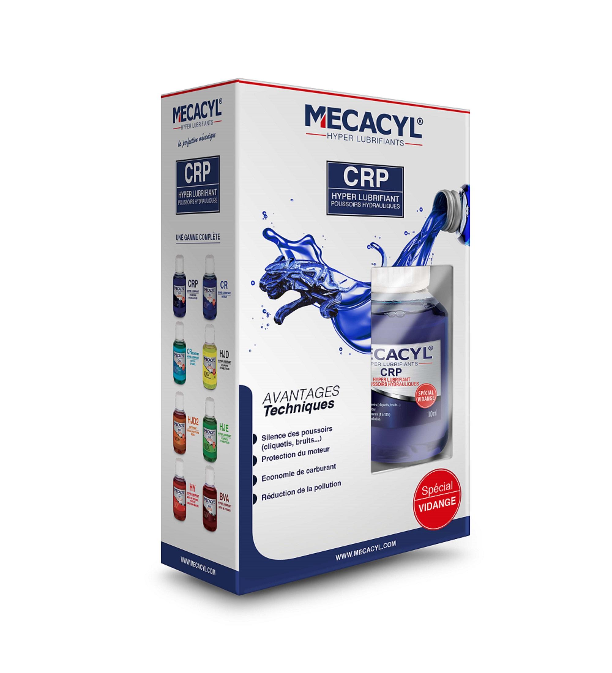 mecacyl cr p additif vidange sp cial poussoirs hydrauliques tous moteurs 4 temps additifs. Black Bedroom Furniture Sets. Home Design Ideas