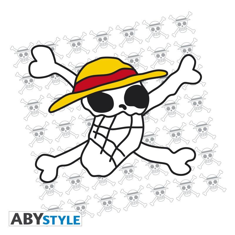 One Piece Tshirt Skull Dessin De Luffy Homme Mc White