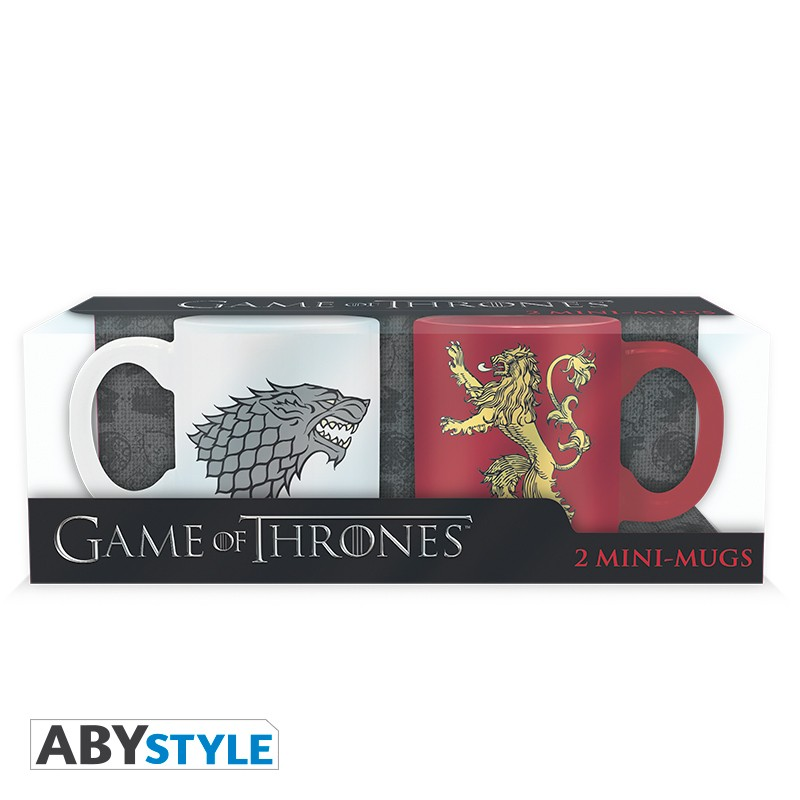 GAME OF THRONES - Set 2 mini mugs - 110 ml - Stark & Lannister