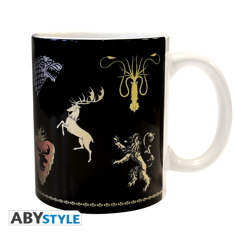 GAME OF THRONES - Mug - 320 ml - Sigles/noir