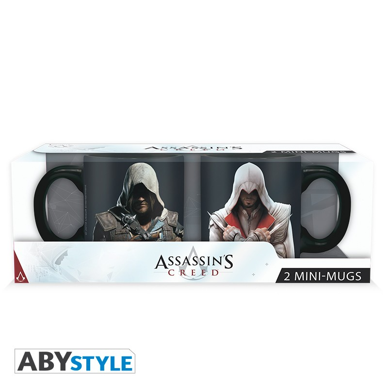 ASSASSIN\'S CREED - Set 2 mini mugs - 110 ml - Ezio & Edward