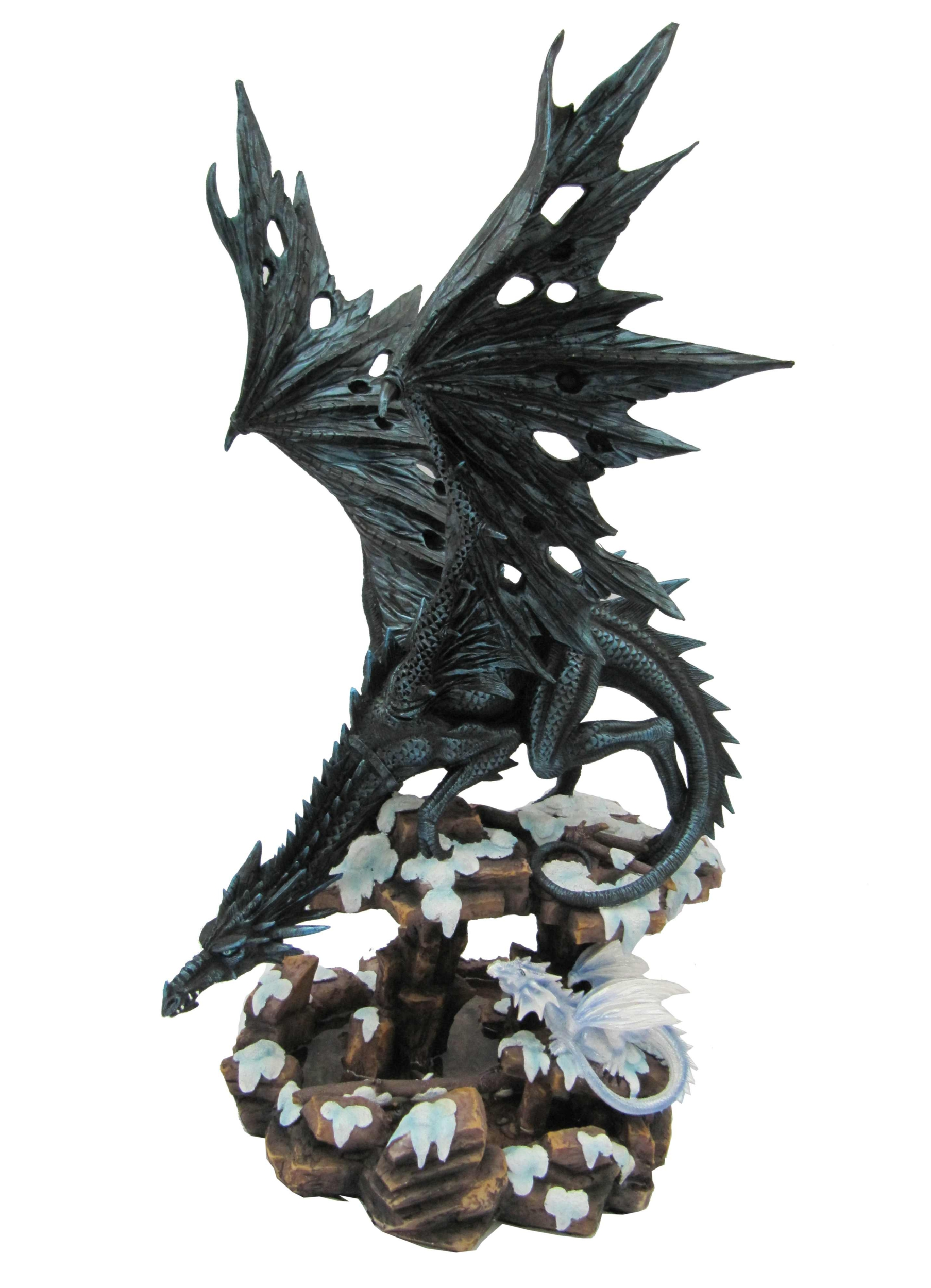 Statuette Dragon Heilyn (H48 x L28cm)
