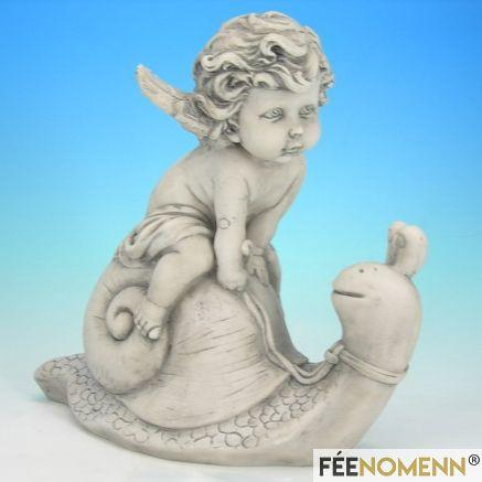 Statuette Ange sur Escargot