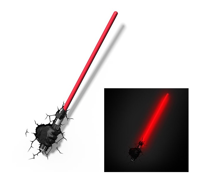 star wars lampe d corative 3d sabre laser dark vador d co accessoires luminaires f enomenn. Black Bedroom Furniture Sets. Home Design Ideas
