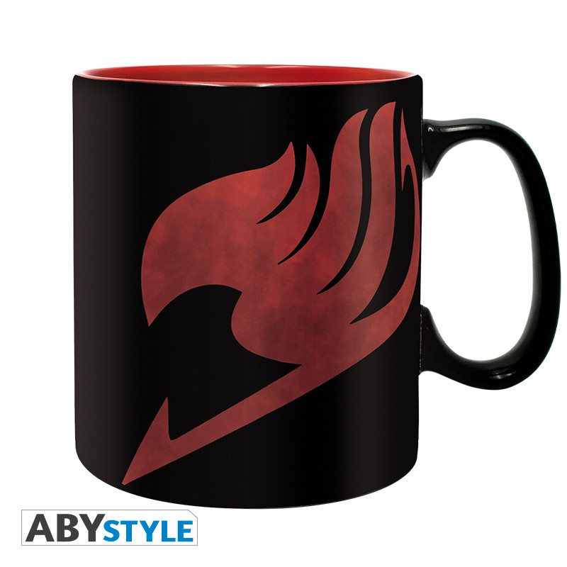 FAIRY TAIL - Mug - 460 ml - Lucy, Natsu & Emblème