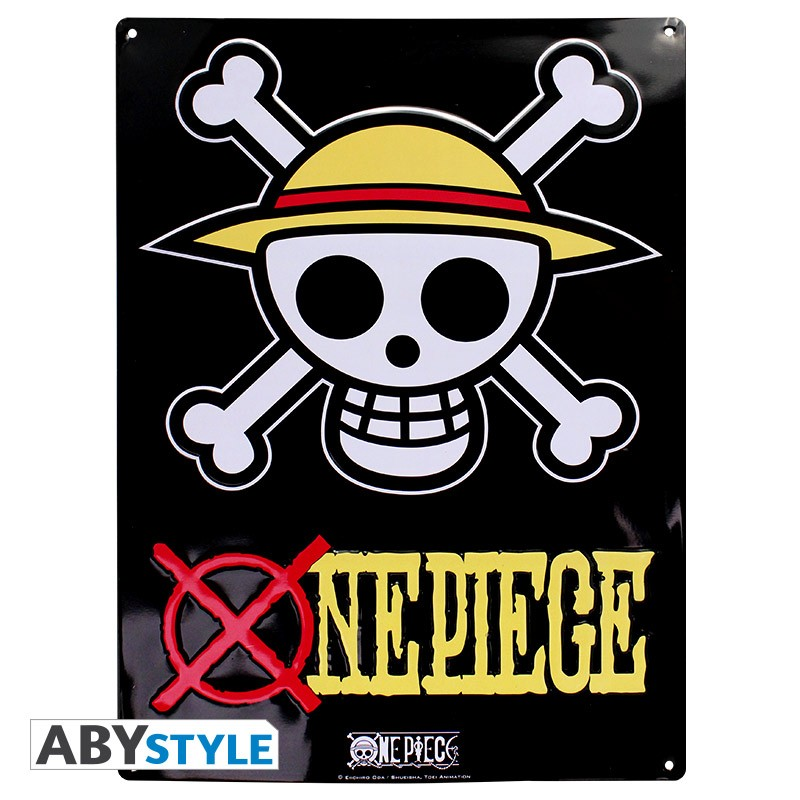 ONE PIECE - Plaque métal Skull - Luffy (30x40cm)