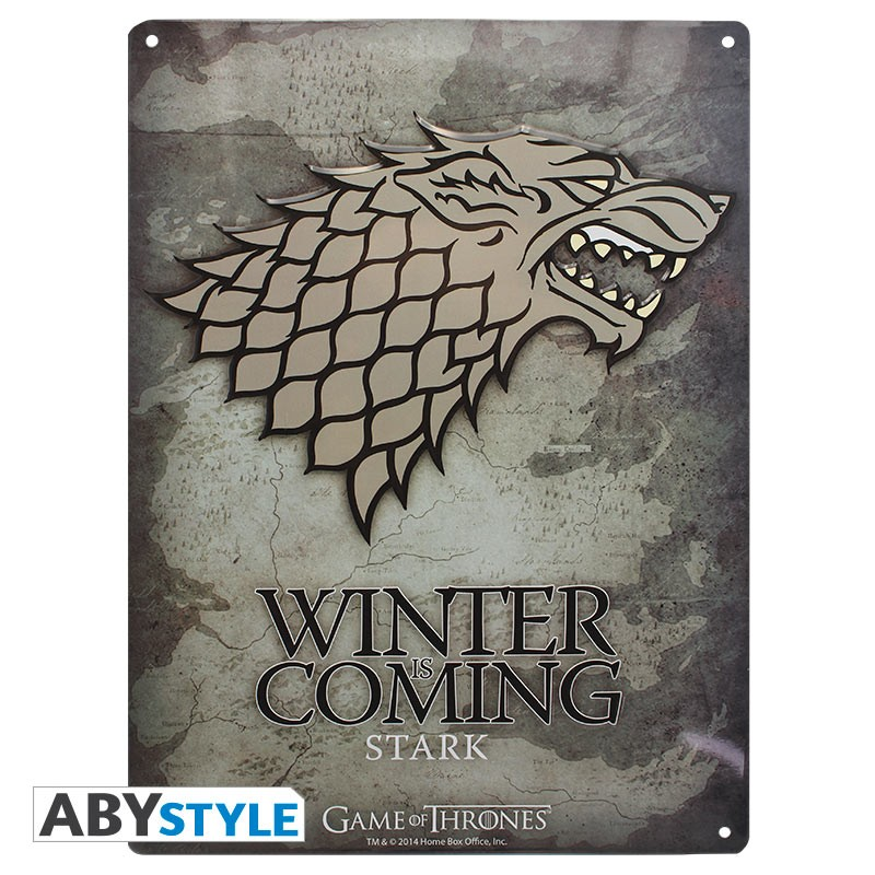 GAME OF THRONES - Plaque métal Stark (30x40cm)