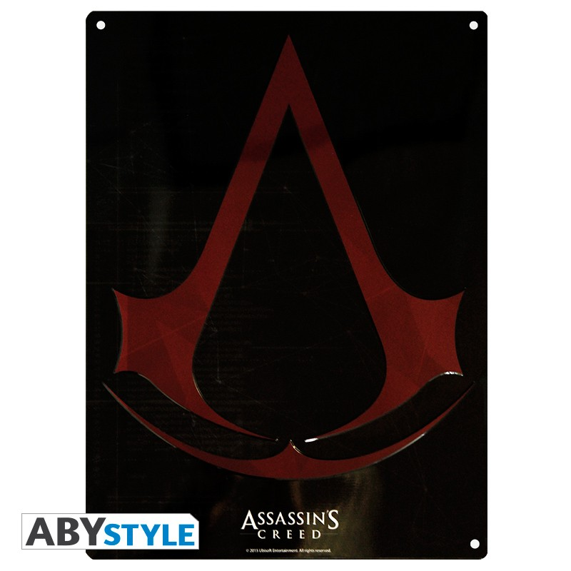 ASSASSIN\'S CREED - Plaque métal Crest (30x40cm)