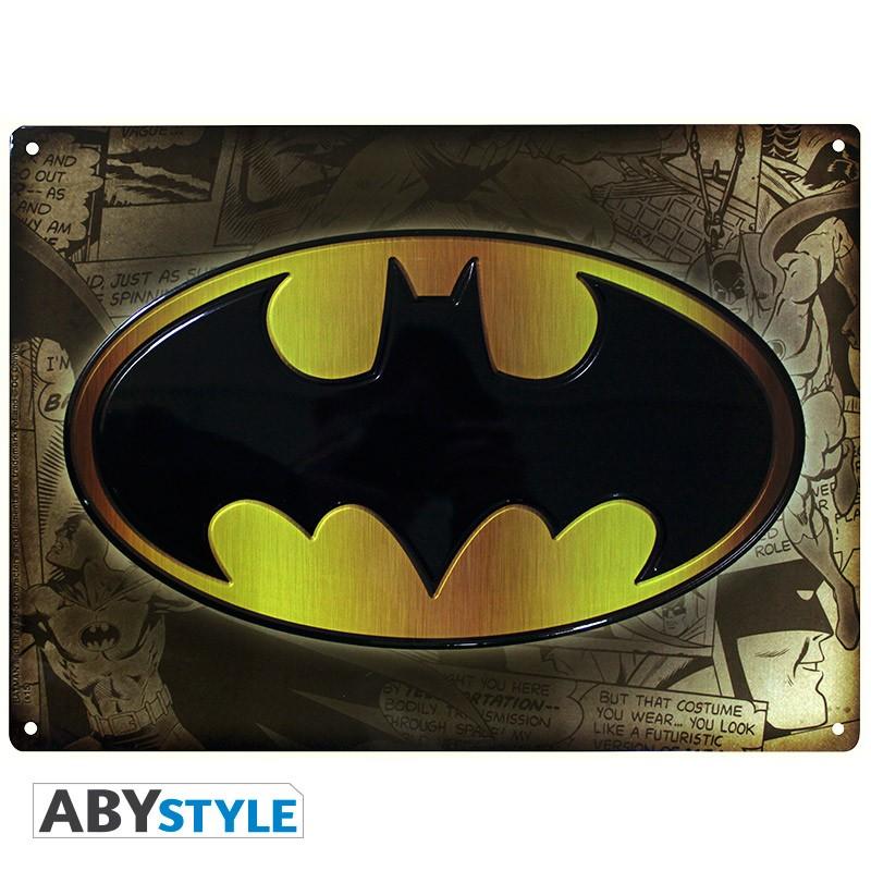 DC COMICS - Plaque métal Batman (30x40cm)