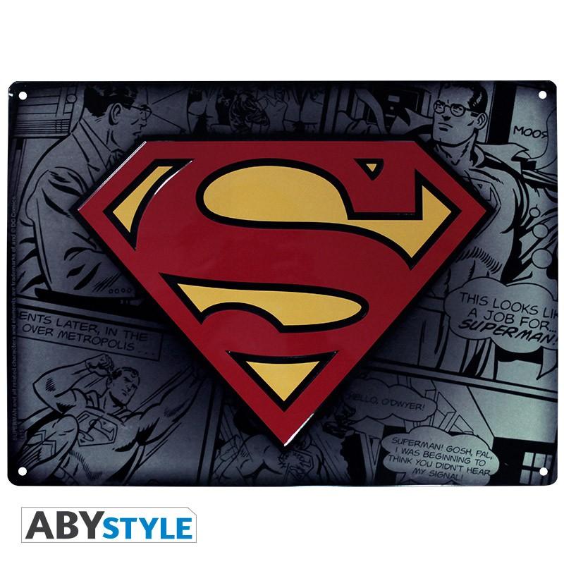 DC COMICS - Plaque métal Superman (30x40cm)
