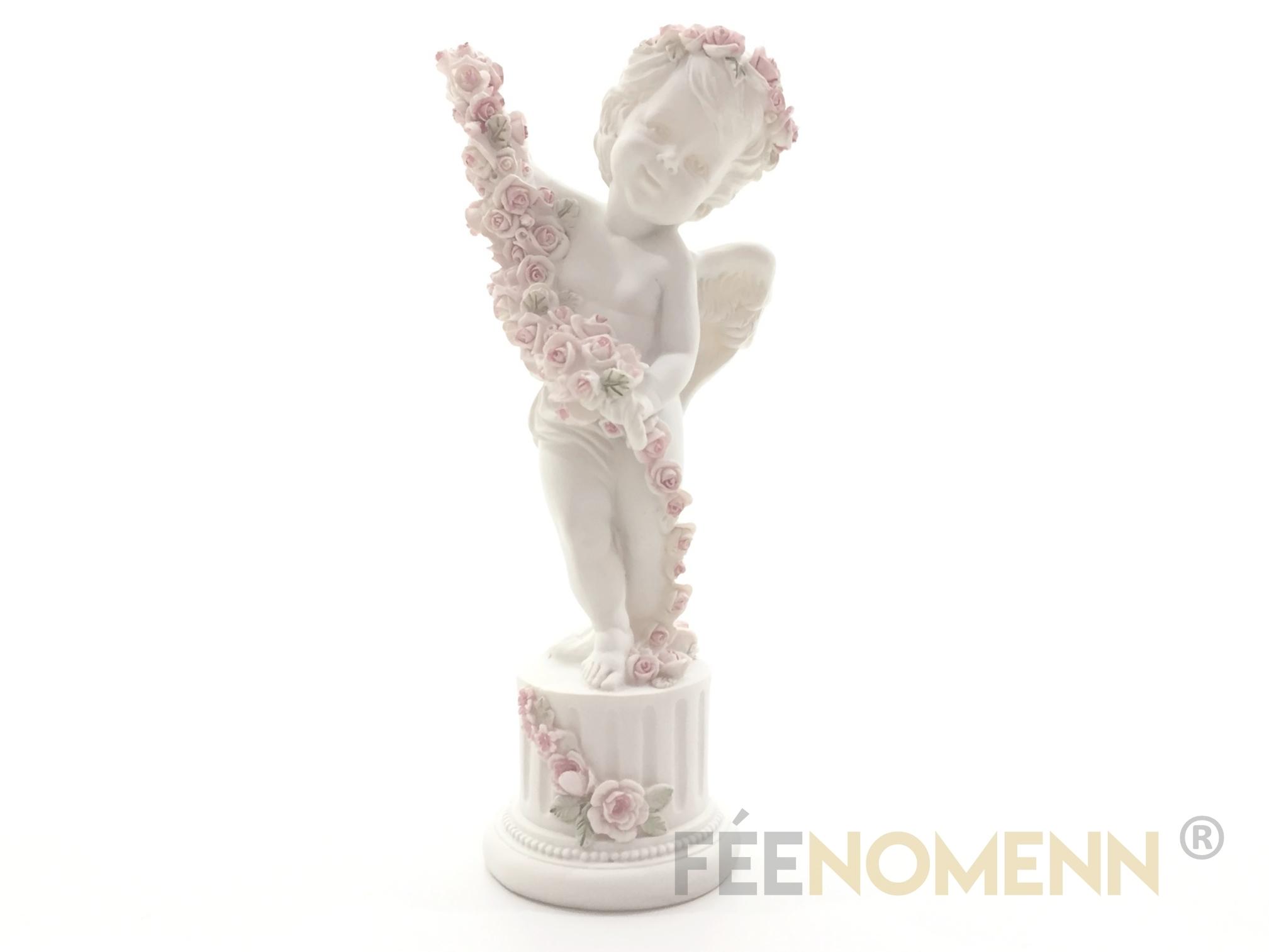 Statuette Ange Fleurs (H23 x L11cm)