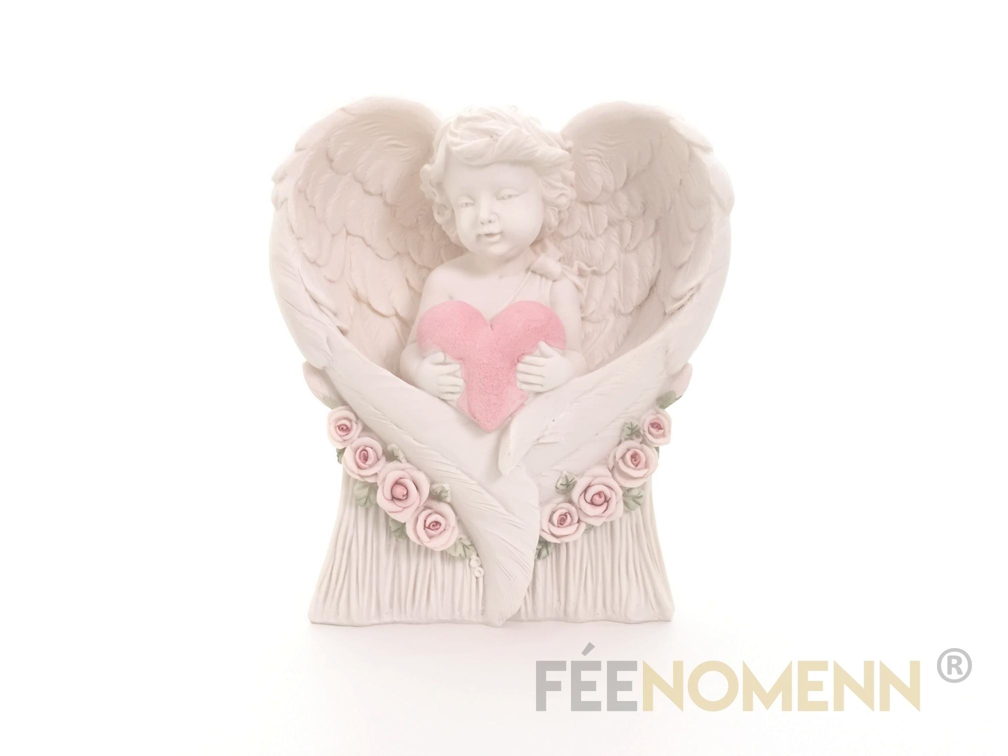 Figurine Ange Coeur (H18 x L16cm)