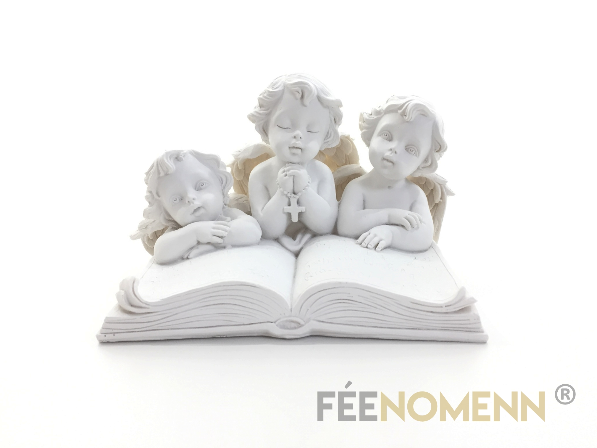 Statuette Anges Prieurs Bible