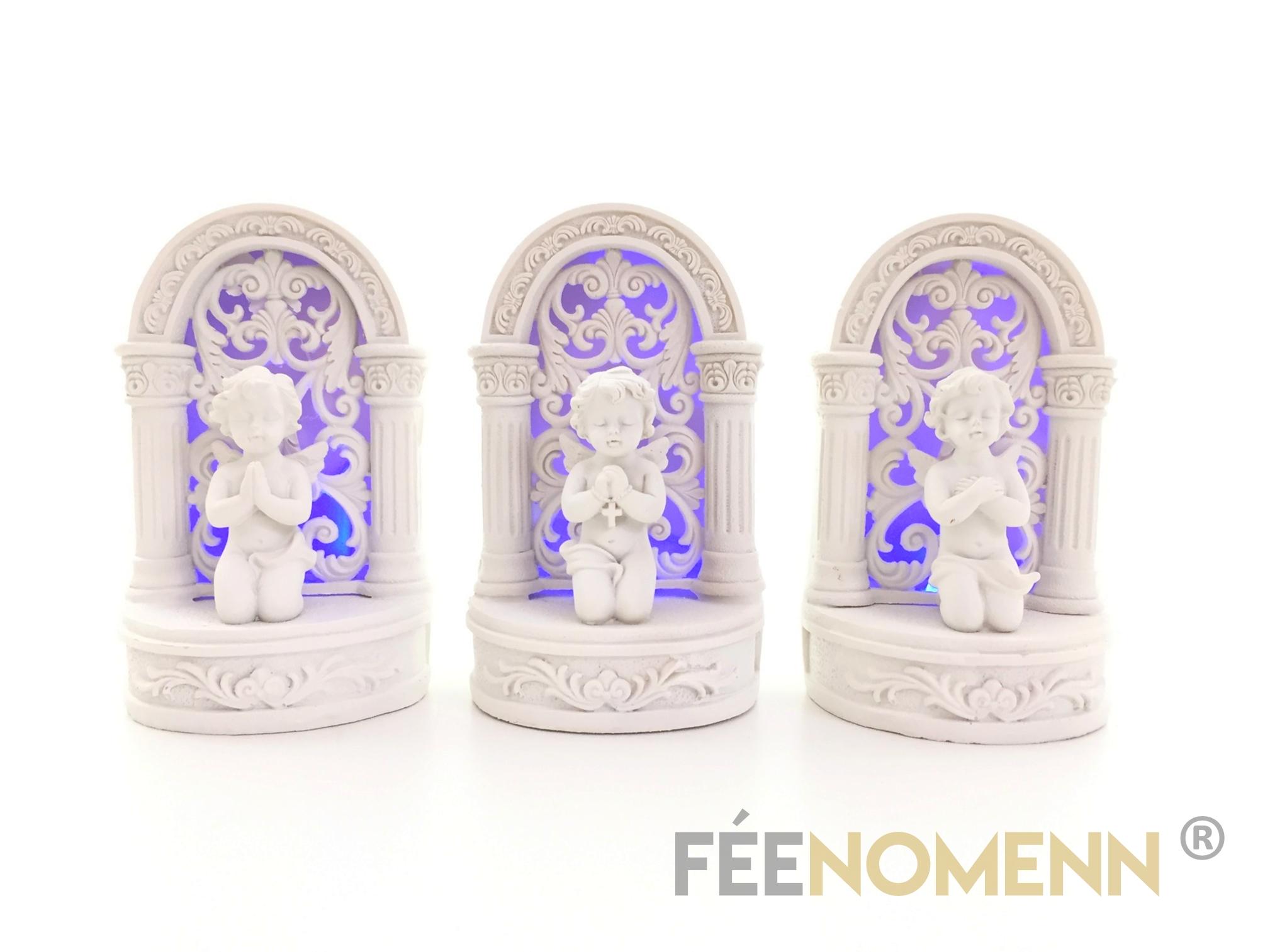 Statuettes Anges Lumineux (LOT DE 3 PIÈCES)