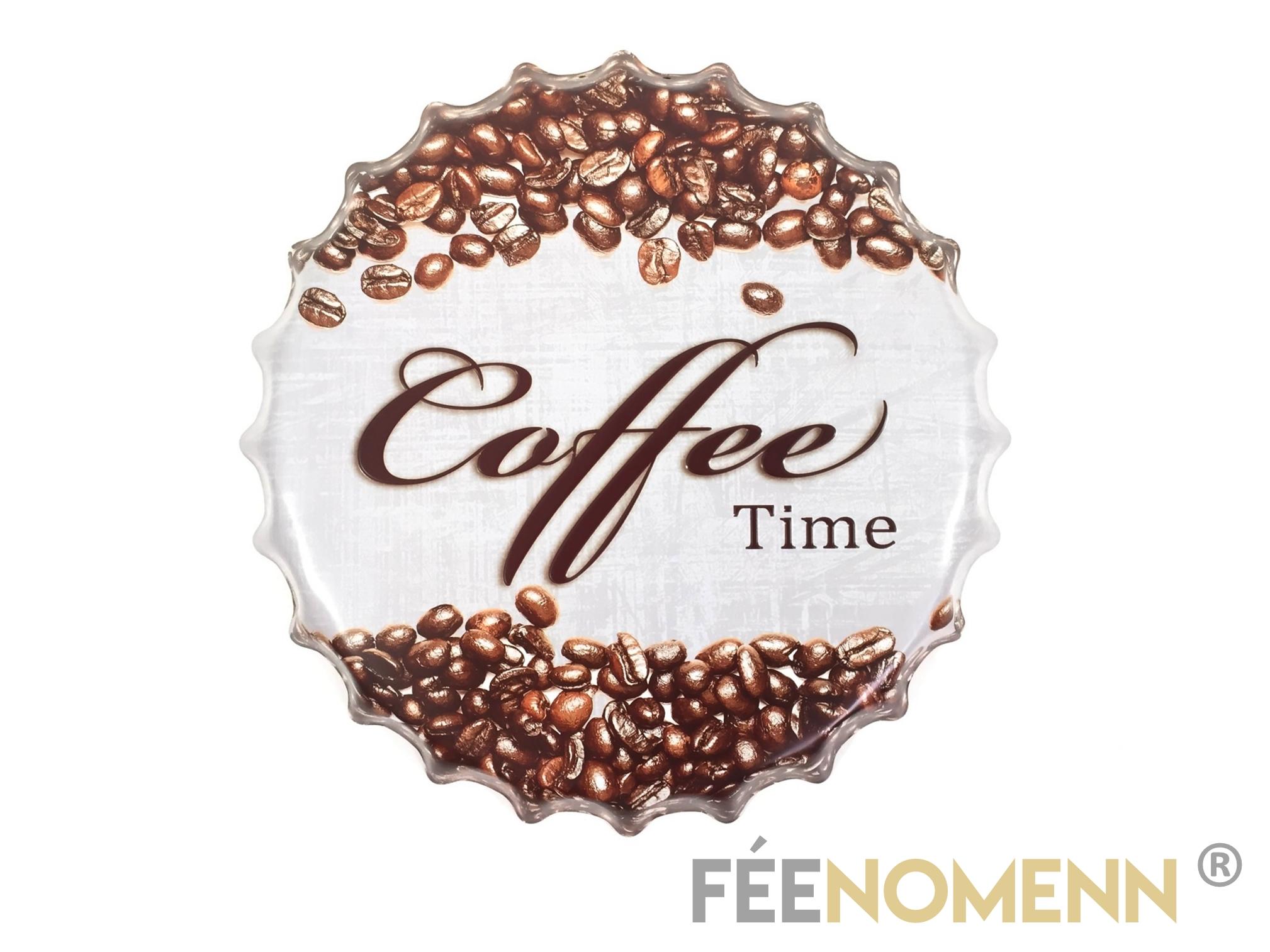Capsule Métal Vintage - Café - it\'s Coffee Time (Diam. 40cm)