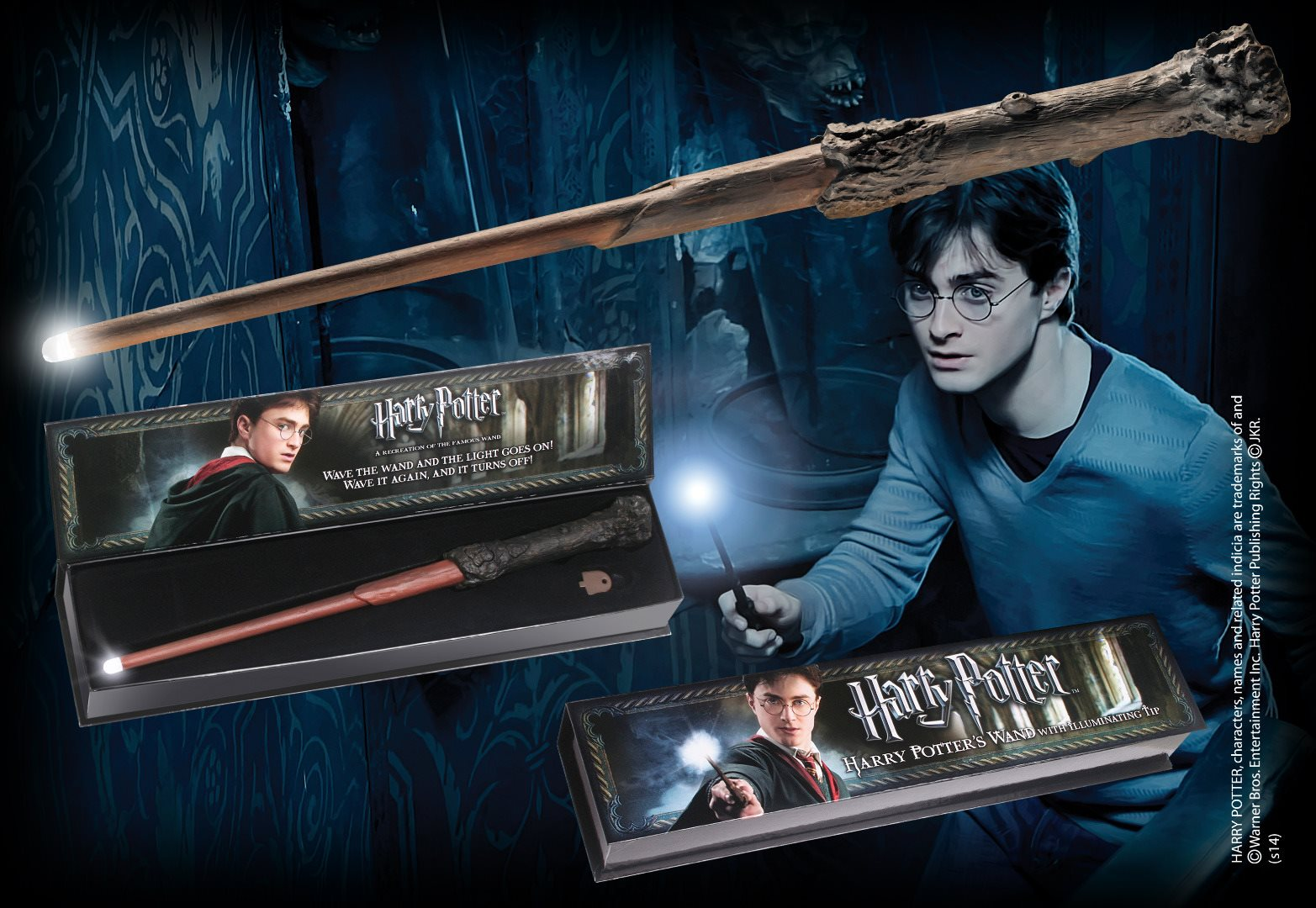Harry Potter R 233 Plique Baguette Lumineuse Harry Potter