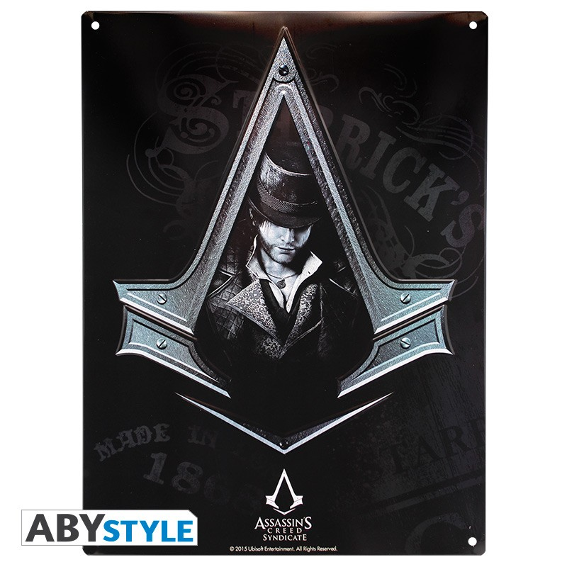 ASSASSIN\'S CREED - Plaque métal ASC Syndicate (30x40)