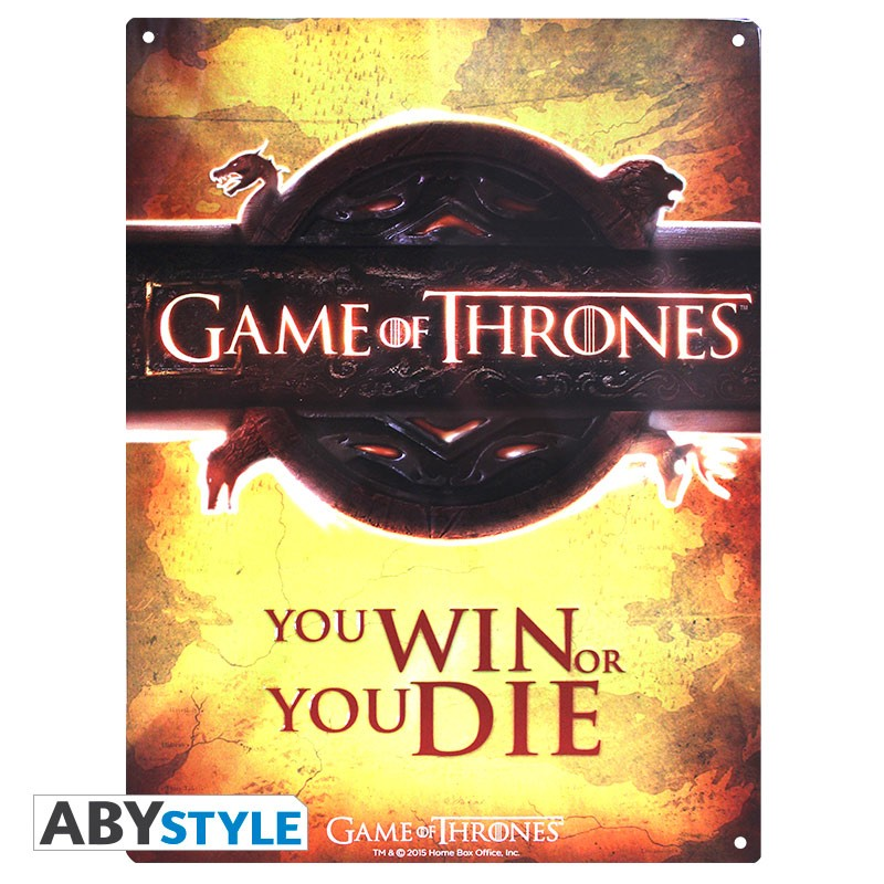 GAME OF THRONES - Plaque métal opening logo (30x40)