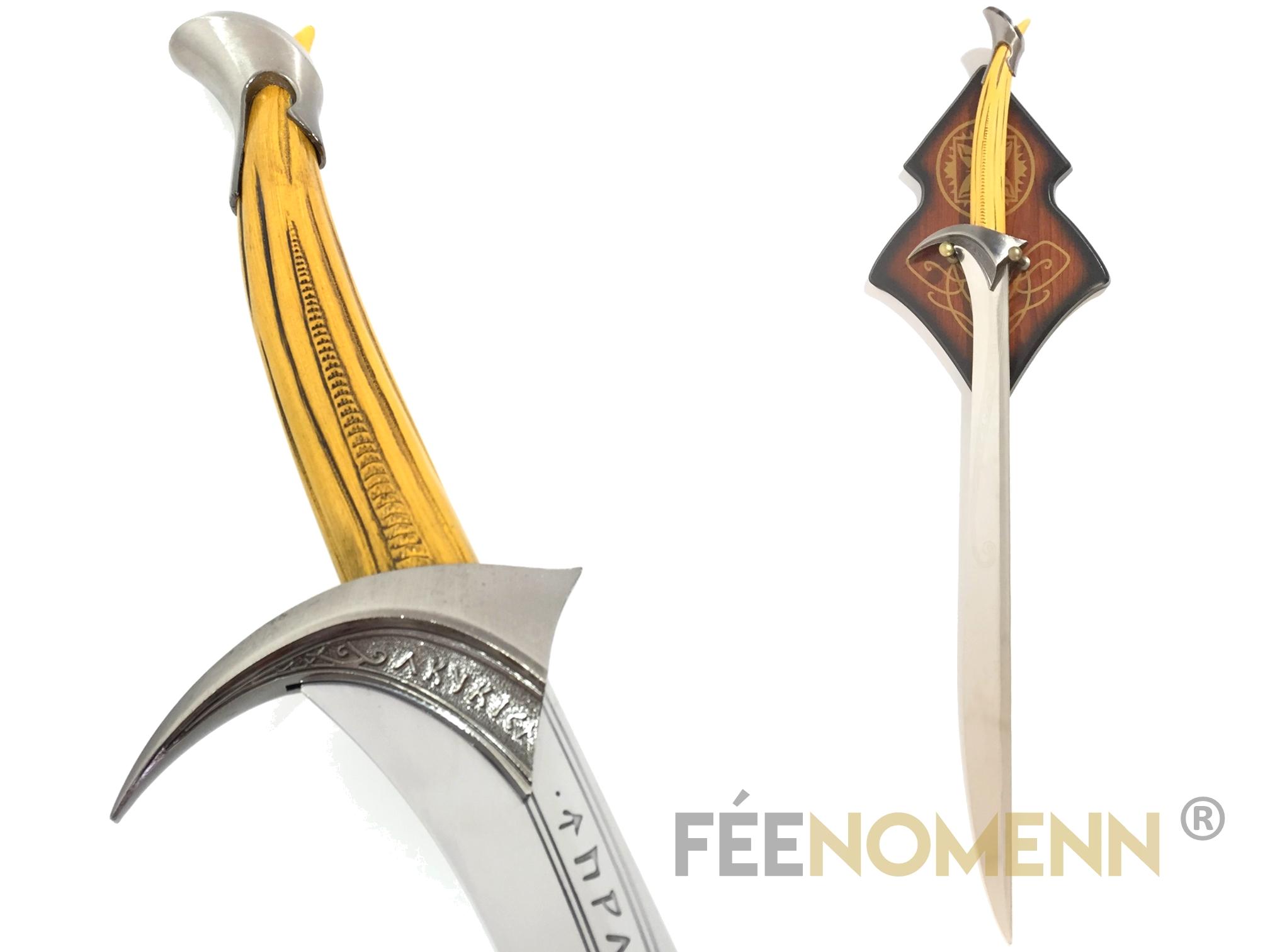LE HOBBIT - Réplique Épée THORIN - Orcrist (version avec plaque murale)
