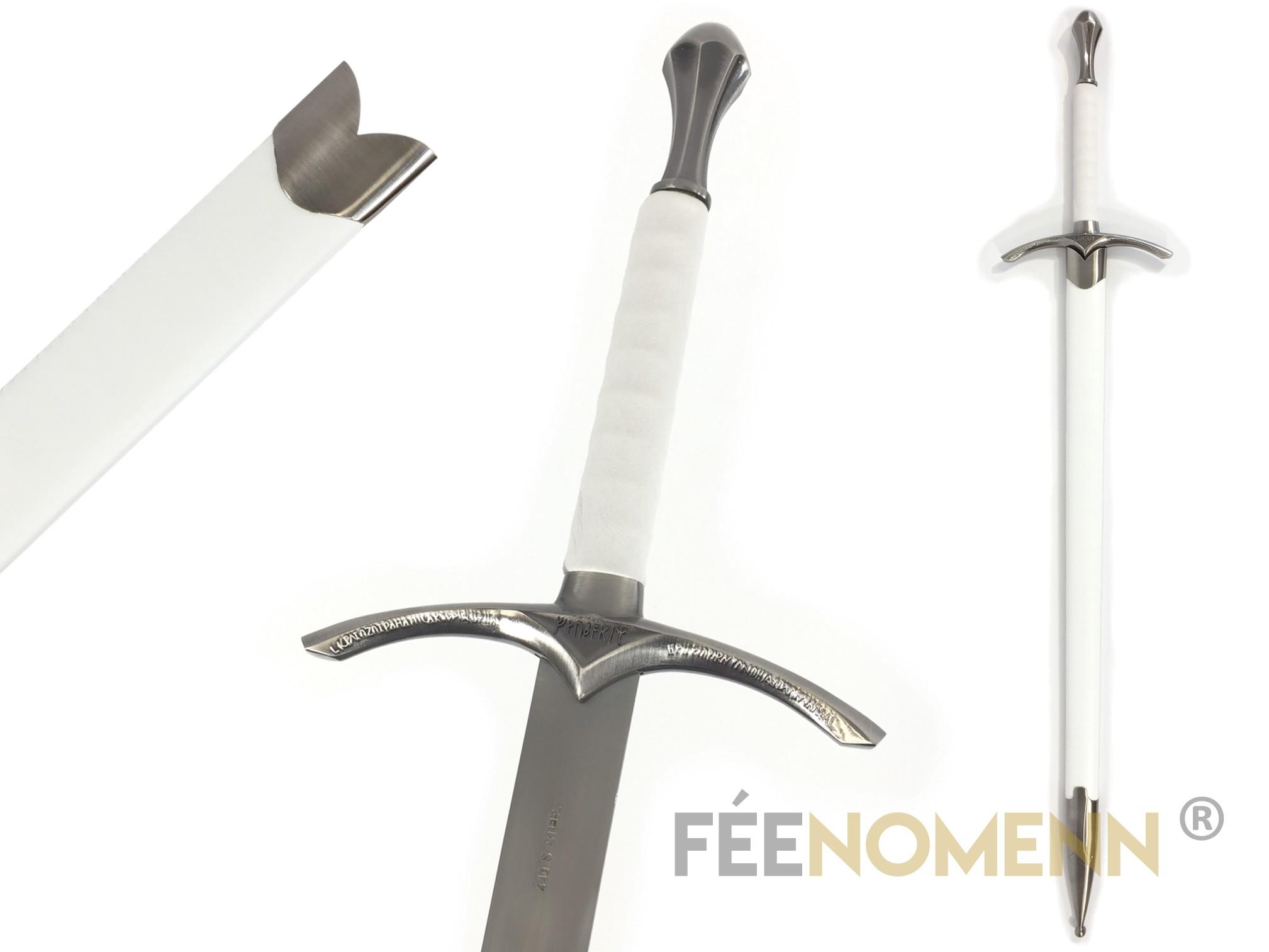 LE SEIGNEUR DES ANNEAUX / LE HOBBIT - Réplique Épée GANDALF - Glamdring (white édition avec fourreau)