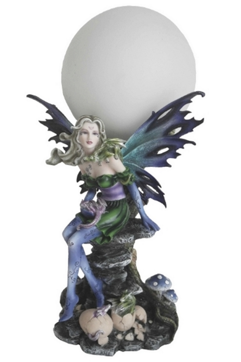 Lampe Globe Fée Laéla (H35 x L18cm)