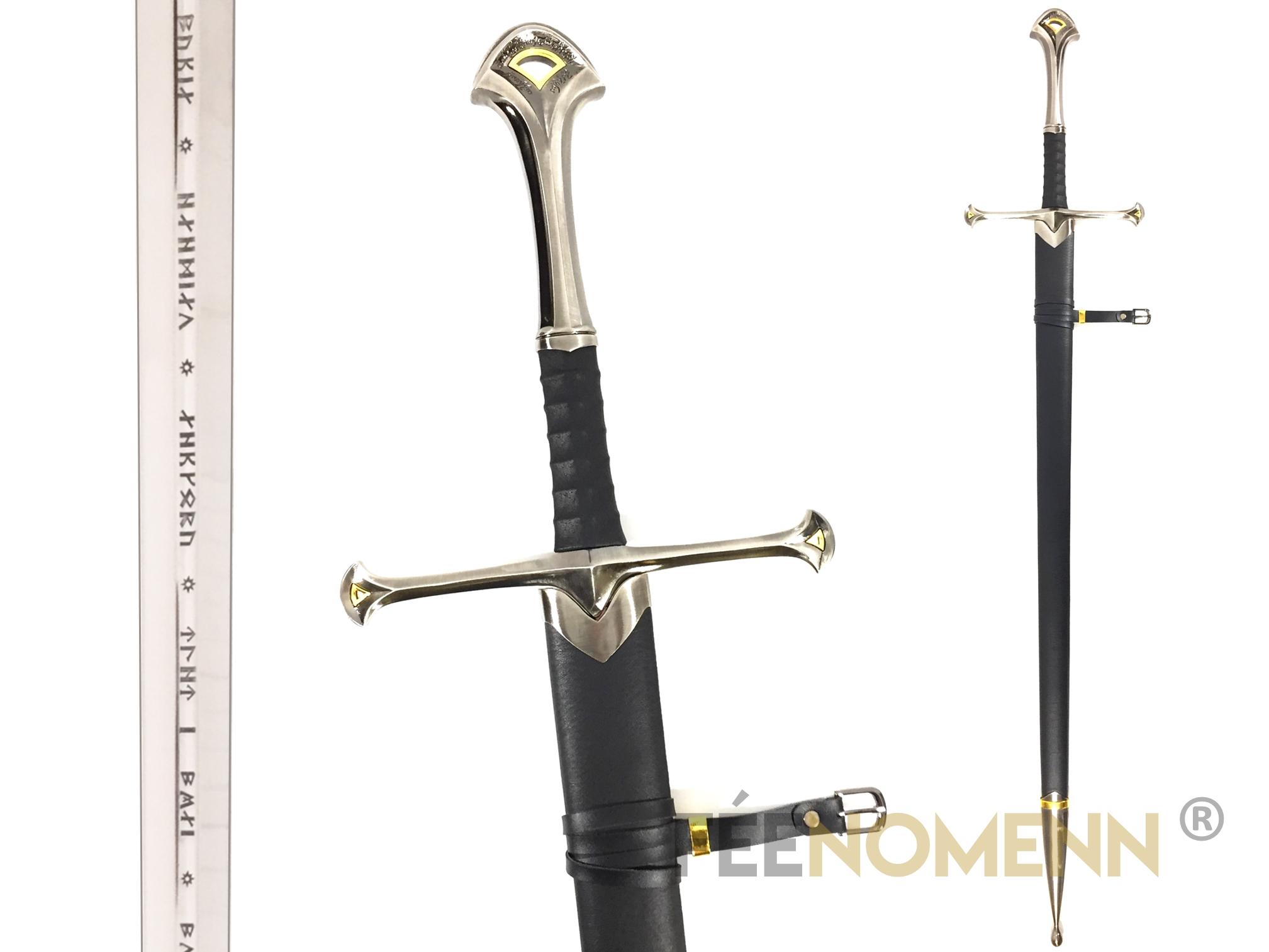 LE SEIGNEUR DES ANNEAUX - Réplique Épée ANDURIL (lame gravée + fourreau)