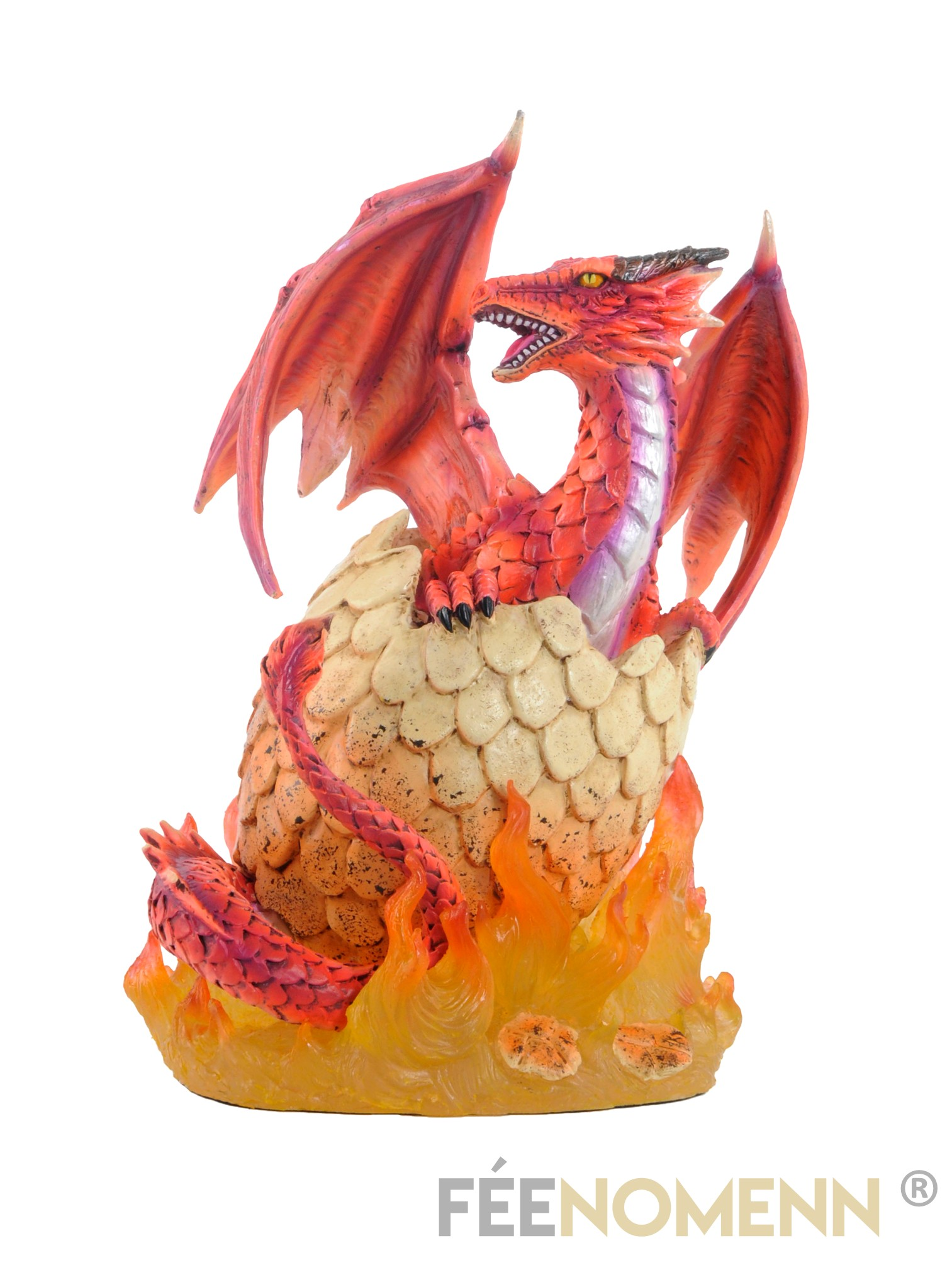 Statuette Oeuf de Dragon Rouge (H20 x L16cm)