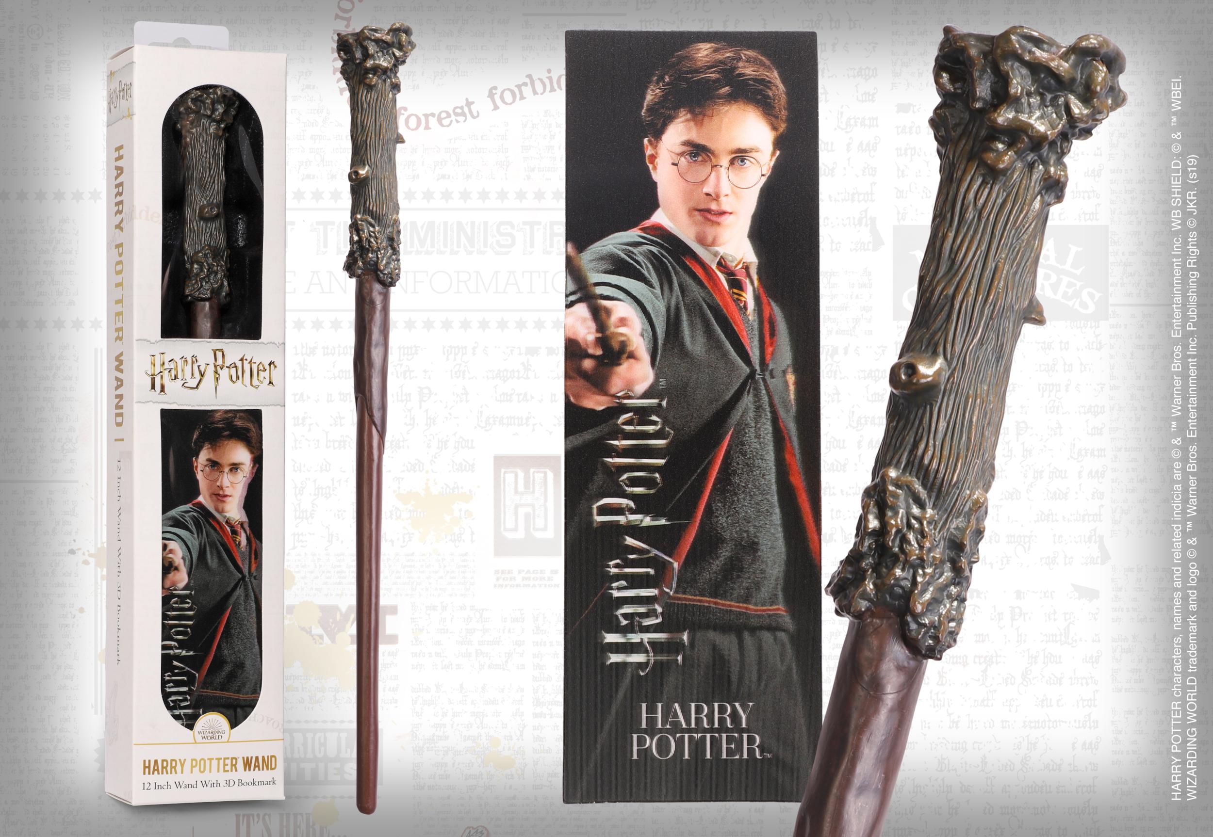 HARRY POTTER - Baguette magique Harry Potter avec marque-page 3D