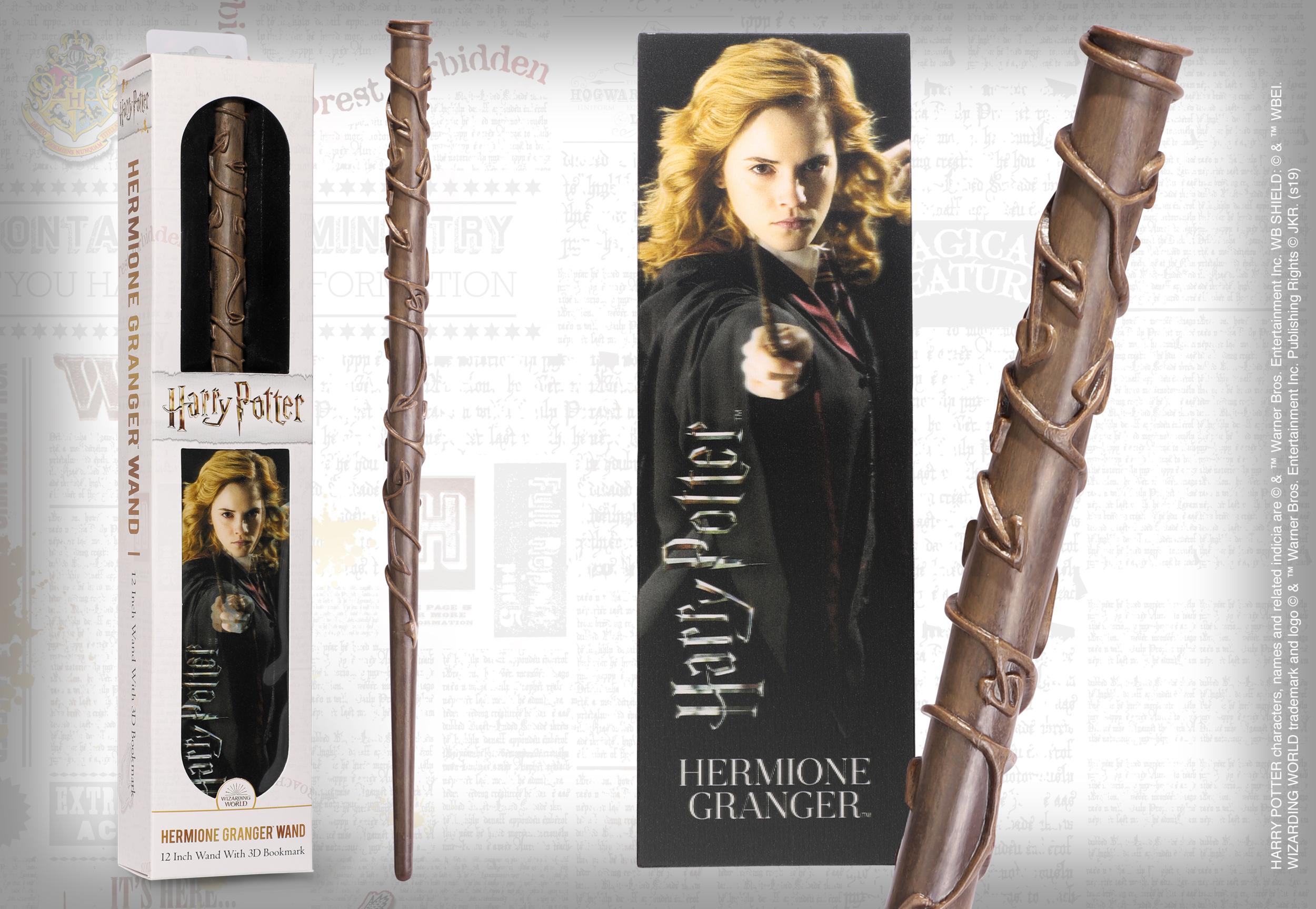 HARRY POTTER - Baguette magique Hermione Granger avec marque-page 3D