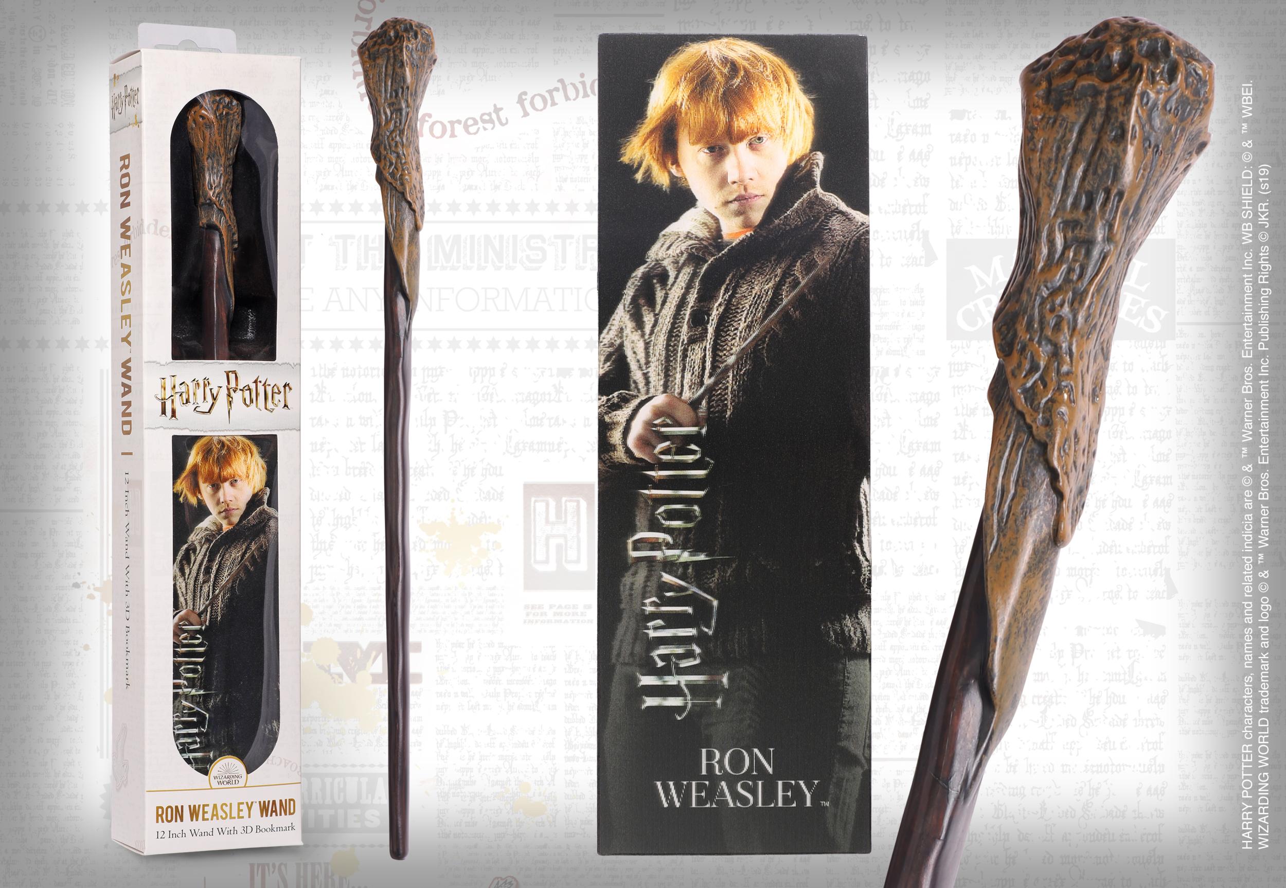 HARRY POTTER - Baguette magique Ron Weasley avec marque-page 3D