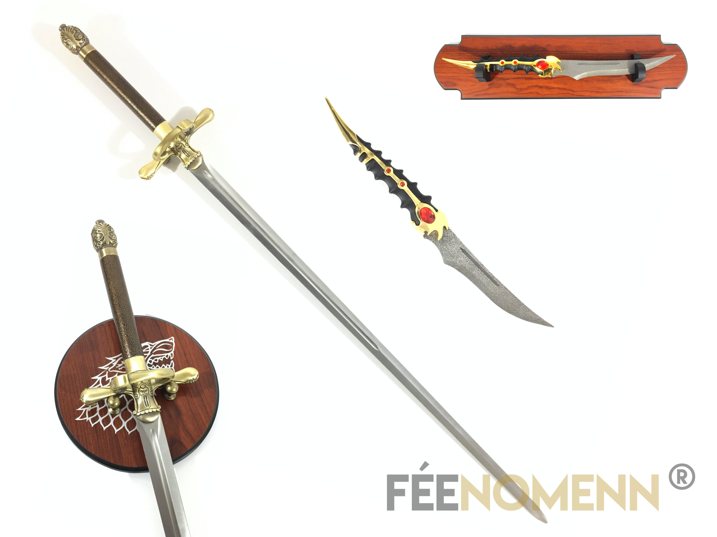 GAME OF THRONES - PACK ARYA - Réplique 2 Armes : Aiguille, Catpsaw
