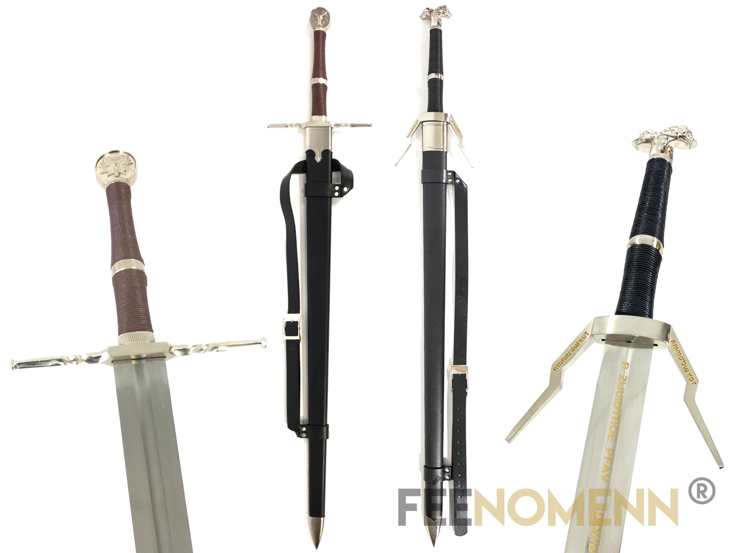 THE WITCHER 3 Wild Hunt - PACK GERALT - Réplique 2 Epées : Acier, Argent