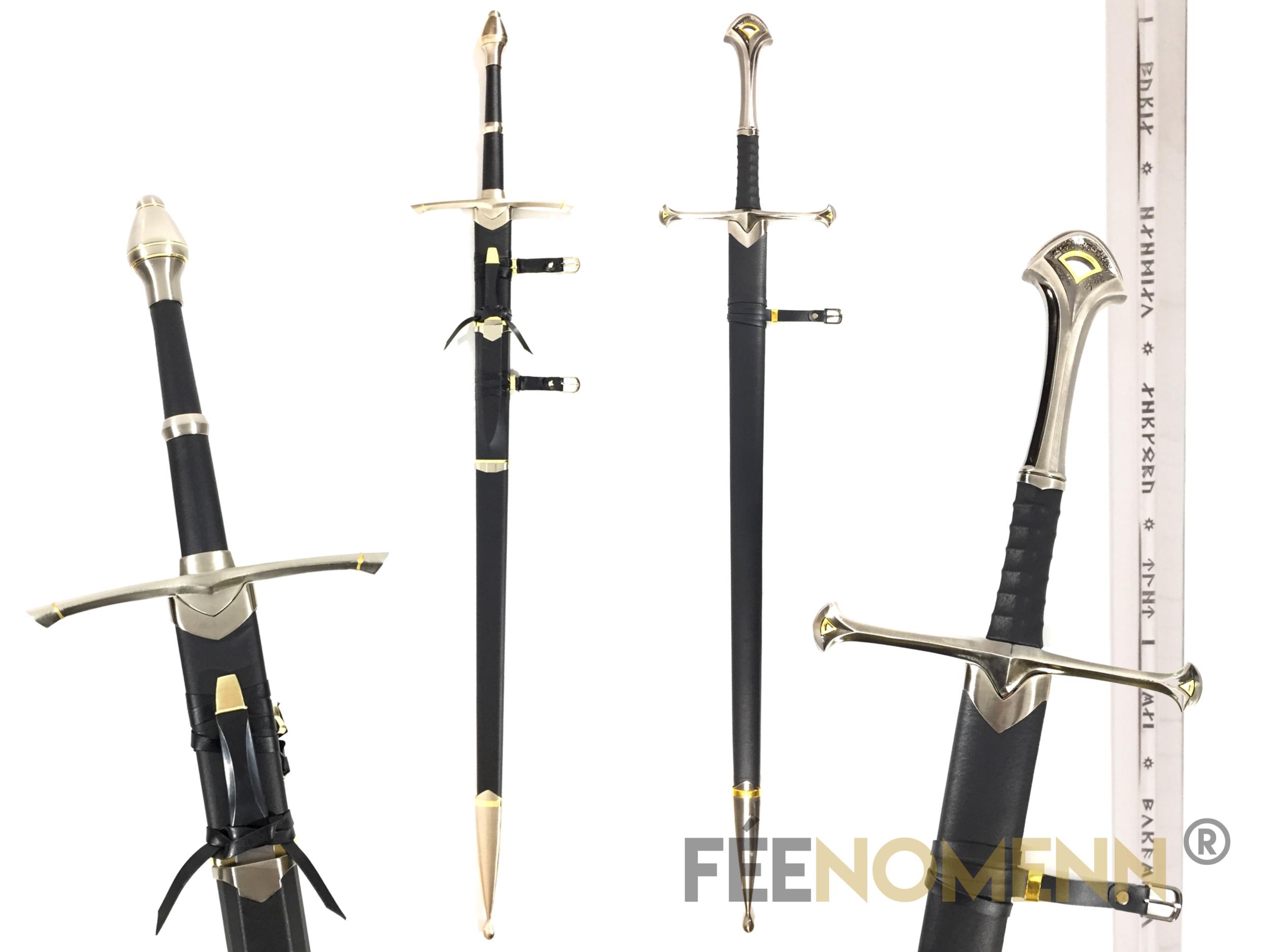 LE SEIGNEUR DES ANNEAUX - PACK ARAGORN (version avec fourreaux) - Réplique 2 Epées : Anduril, Rodeur