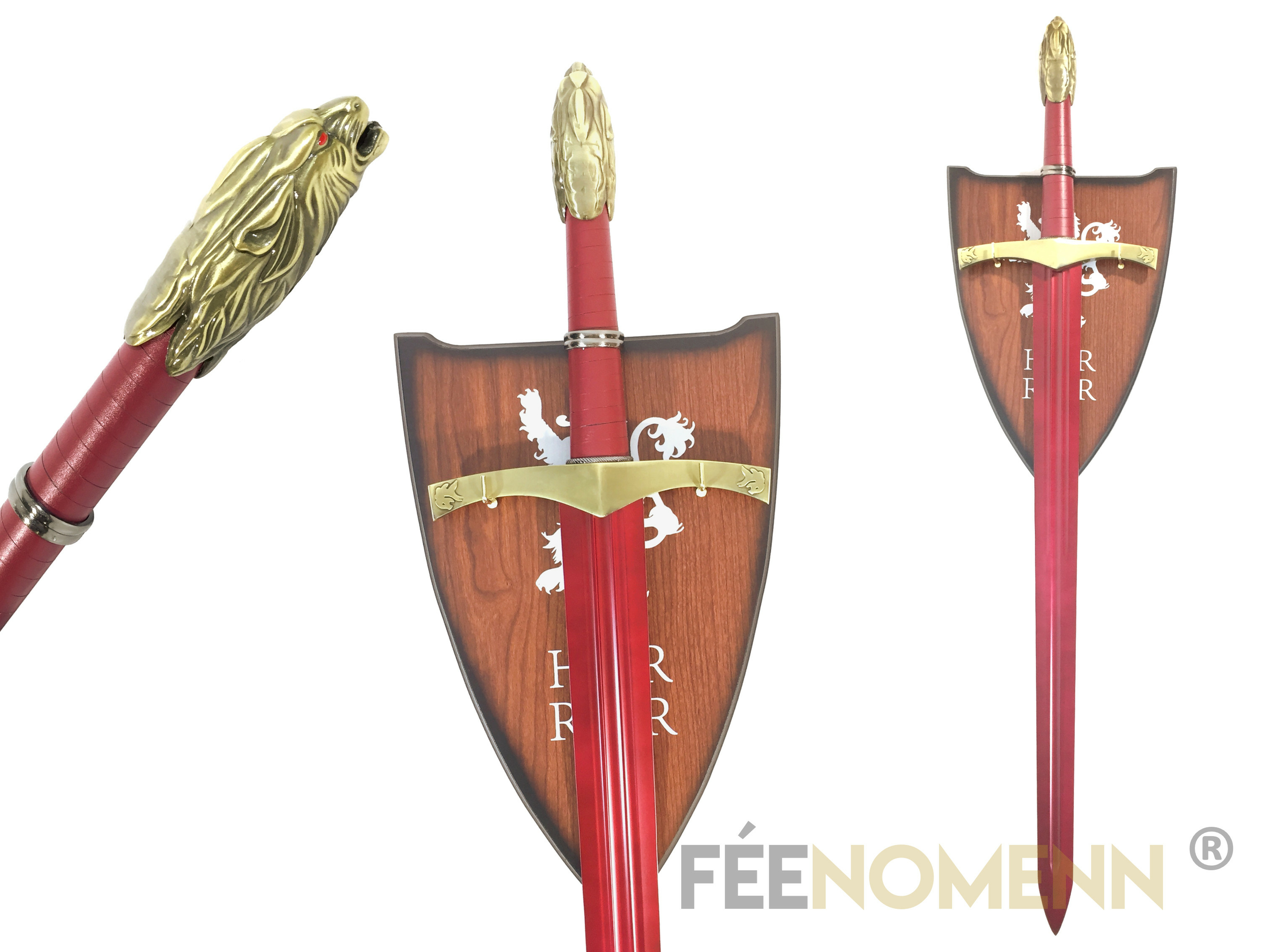 GAME OF THRONES - Réplique Épée Féale Rouge (Red Oathkeeper) - TYRION LANNISTER Book Edition