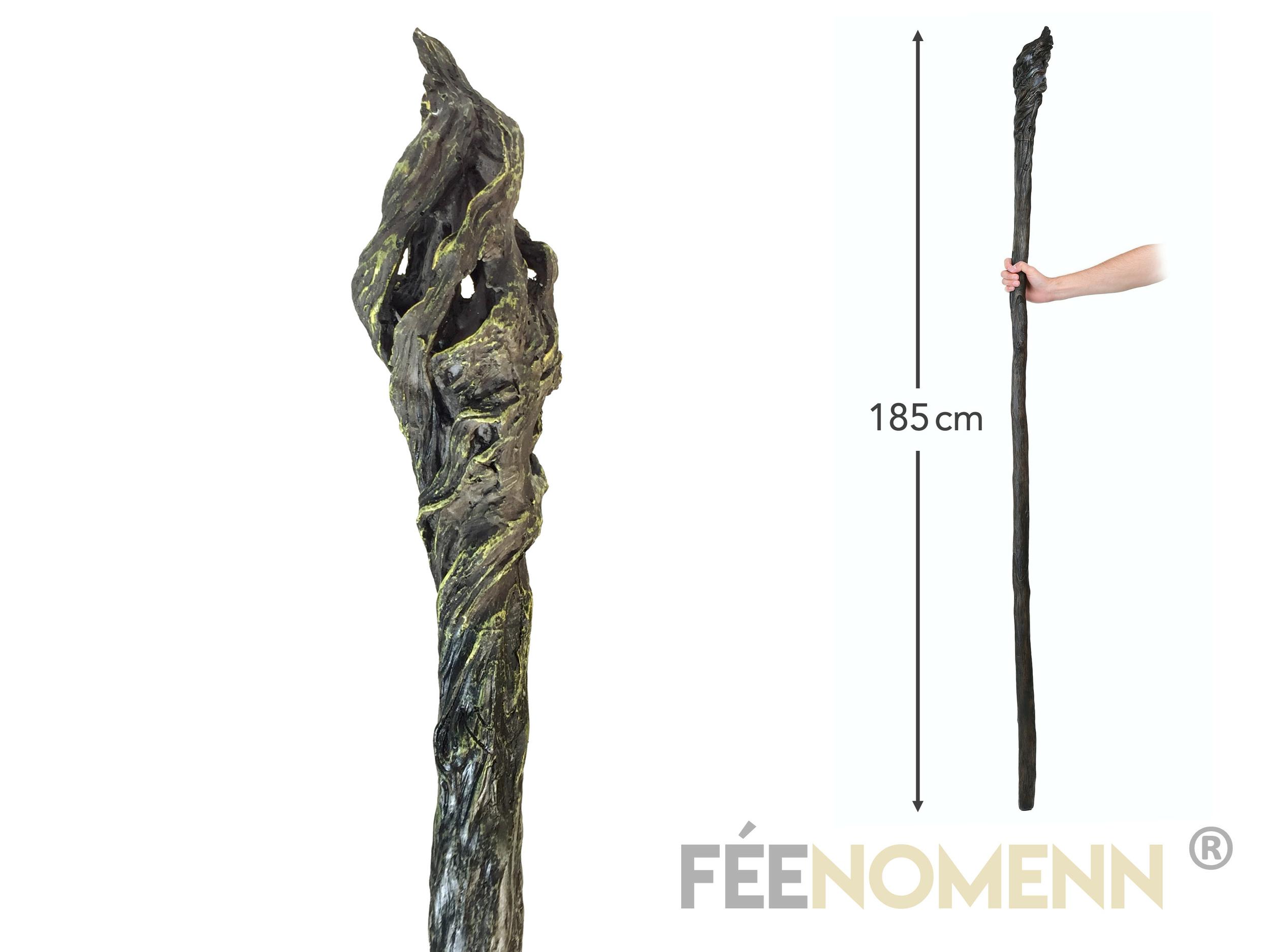 LE SEIGNEUR DES ANNEAUX / LE HOBBIT - Réplique Baton GANDALF (185cm résine pleine)