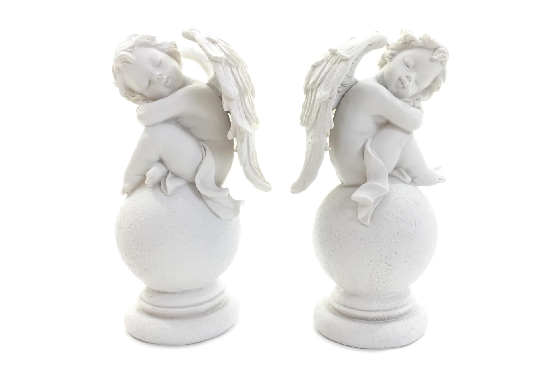 Anges sur boule (LOT DE 2 PIÈCES)